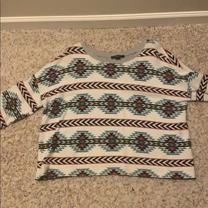 Forever 21 print sweater